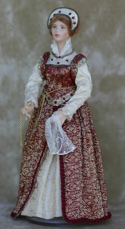 CDHM Gallery of Diane Yunnie, IGMA Artisan makes 1:12 period porcelain dolls for dollhouse miniatures